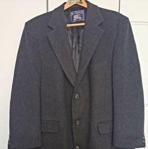 Burberrys Mens 100% Lambwool Gray Coat Made i